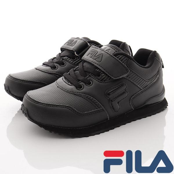 ▌48H ▌【FILA】頂級童鞋-純黑運動慢跑鞋-813R-000-黑-(20cm-24cm)