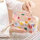 韓國ins風泫雅化妝包可愛防水大容量便攜少女手提化妝品袋透明包 LannaS