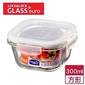 樂扣樂扣 耐熱玻璃保鮮盒方形(300ml)【愛買】