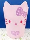 【震撼精品百貨】Hello Kitty 凱蒂貓~塑膠垃圾桶-粉#22228