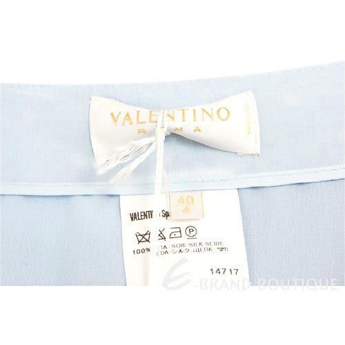 VALENTINO 水藍色緞帶蝴蝶結飾點點及膝裙 0530025-23
