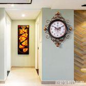 美式復古鐘表掛鐘時鐘客廳創意潮流臥室現代簡約新款大氣客廳家用  居家物語