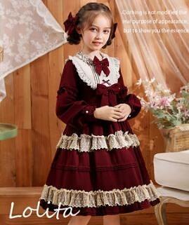 女童洋裝 蘿莉塔女童長袖連衣裙兒童原創洛麗塔裙子小女孩洋裝公主裙【快速出貨八折搶購】
