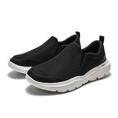 SKECHERS Go Walk Evolution 白底 黑網 懶人鞋 ( 布魯克林 ) 2019/5月 54738BKW