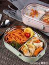 304不銹鋼小學生飯盒兒童便當盒成人防燙餐盒帶蓋韓國分格保溫 莫妮卡小屋