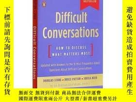 二手書博民逛書店艱難的談話罕見英文原版 Difficult Conversations Douglas StoneY33573