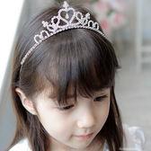 白雪公主兒童皇冠韓國女童頭飾女孩水晶發箍演出發飾水鉆王冠發卡【七七特惠全館七八折】