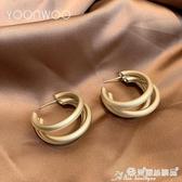 耳環 韓國純銀耳環2020年新款潮氣質網紅耳圈圓圈耳飾女夸張耳釘 愛麗絲