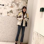 大韓訂製牛仔褲韓國顯瘦小腳鉛筆褲微喇叭九分褲現貨