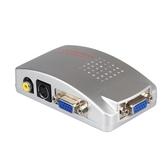 VGA轉AV轉換器電腦接電視S端子接口視頻轉換盒電腦轉電視PC轉TV連接器