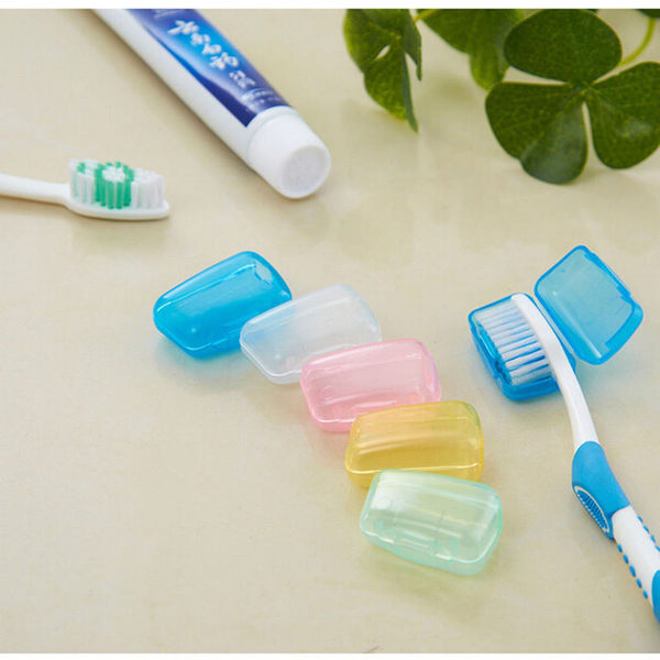 【牙刷套5入組】出差旅行露營上課戶外 牙刷頭保護盒 牙刷頭套 防菌衛生保護套