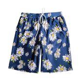 沙灘褲男五分褲夏季寬鬆海邊度假印花大碼溫泉平角泳褲 聖誕交換禮物