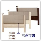 【水晶晶家具/傢俱首選】CX1209-1艾美5呎貓抓皮木心板雙人床頭片~~四色可選
