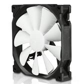 Phanteks 追風者PH-F140XP_BK大風量版黑白14公分機箱散熱風扇PWM(液壓軸/聚風流葉片/避震墊/靜音溫控)