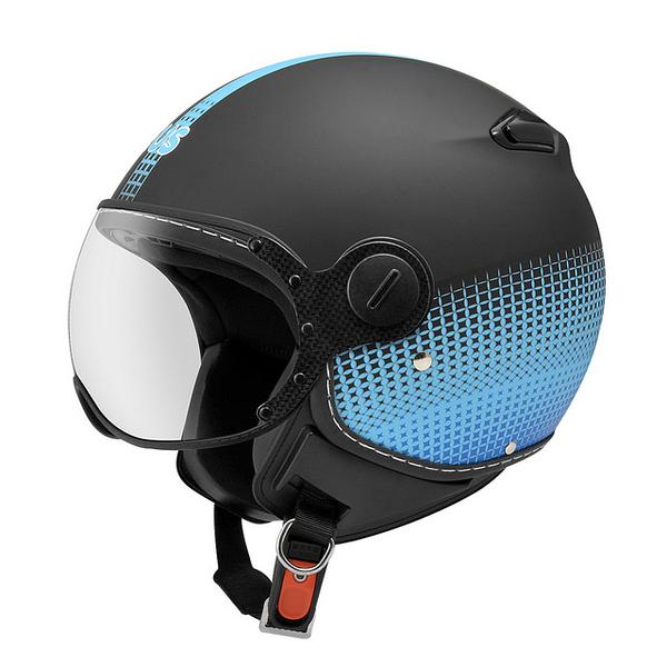 ZEUS 瑞獅安全帽,MOMO 飛行帽,210C,DD82/消光黑藍
