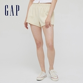 Gap女裝 純棉透氣運動短褲 845032-奶油米色