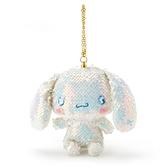 〔小禮堂〕大耳狗 亮片玩偶娃娃吊飾《藍白》掛飾.鑰匙圈.鎖圈 4901610-40505