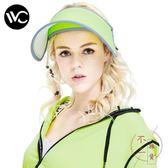 遮陽帽夏季空頂帽太陽帽女神帽防紫外線帽子【不二雜貨】