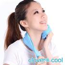 里和Riho 小領巾 冰涼巾 路跑巾 海洋藍 瞬間涼感多用途 SGS檢測不含塑化劑 台灣製造 冰領巾