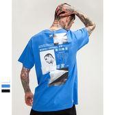 短袖T恤-純棉照片拼貼暴力障礙個性男上衣3色73qw94[巴黎精品]