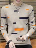 秋冬季男士毛衣韓版潮流新款毛衣男裝外套圓領加絨針織衫線衣