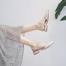 潮女涼鞋 包頭涼鞋女2021年新款高跟仙女風時裝ins潮百搭中跟平底鞋子夏季【快速出貨八折搶購】