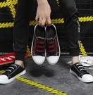 夏季男鞋子帆布板鞋休閒男士涼鞋包頭懶人鞋透氣半托鞋韓版半拖鞋 3C優購