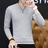 毛衣男 青年長袖tb毛衣圓領修身純色男裝韓版紐扣針織打底衫衣服   傑克型男館
