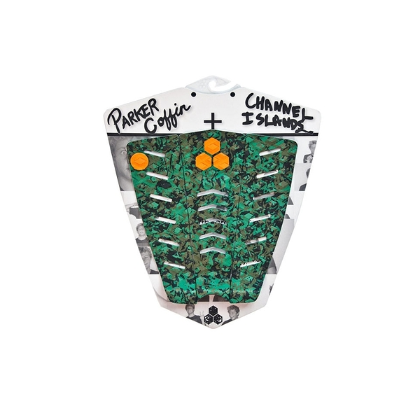 Channel Islands|衝浪配件 PARKER COFFIN ARCH PAD 三片式防滑墊 / 止滑墊 - (綠迷彩)