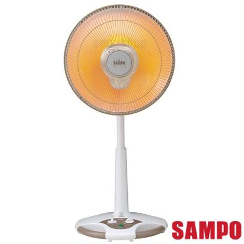 獨下殺【聲寶SAMPO】14吋風扇型鹵素電暖器 HX-FD14F