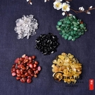 天然五行聚財水晶碎石消磁石五色