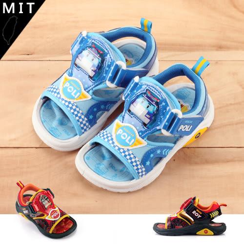 男童 POLI 魔鬼氈 電燈涼鞋 MIT製造 正版售權  59鞋廊