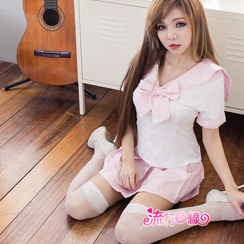 角色扮演學生服水手制服~黑粉藍三色cosplay萌系水手服~流行E線A7038