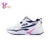 FILA運動鞋 女鞋 輕量跑鞋 跑步鞋 慢跑鞋 透氣網布 跑鞋 HIDDEN TAPE D9995#白藍◆OSOME奧森鞋業