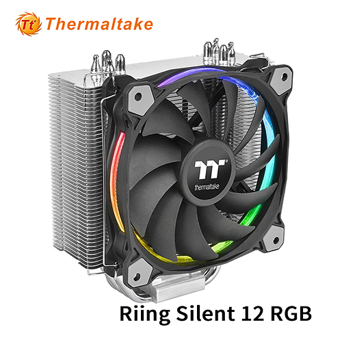 Thermaltake 曜越 Riing Silent 12 RGB 主機版連動Sync版 CPU 散熱器