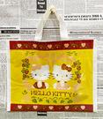 【震撼精品百貨】Hello Kitty 凱蒂貓~日本SANRIO三麗鷗KITTY塑膠袋/購物袋-古典咖*03778