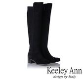 ★2019秋冬★Keeley Ann極簡魅力 高質感柔軟膝上長靴(黑色) -Ann系列