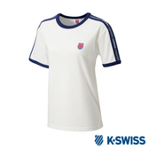 K-SWISS Soft Cool T-Shirt印花短袖T恤-女-白