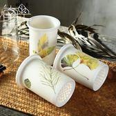 陶瓷筷子筒日式防霉瀝水筷籠