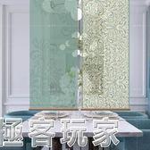 現代歐式玄關客廳臥房書房隔斷半透時尚掛屏捲簾-如花似錦  ATF『極客玩家』