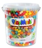 德國PlayMais 玩玉米創意黏土分享超大桶(1500顆)