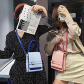 早春豎款手機包 皮帶裝飾簡約小方包 單肩斜背女包|米莎