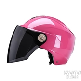 夏季電動電瓶車頭盔男女士四季半盔灰夏天透氣防曬安全帽 京都3C