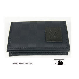 Backbager 背包族【MLB 美國大聯盟 洋基】零錢包/名片夾/皮夾/短夾/錢包-黑色