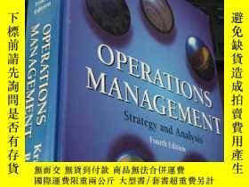 二手書博民逛書店OPERATIONS罕見MANAGEMENT Strategy and Analysis (Fourth Edit