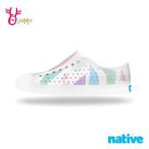 native水鞋 女鞋 奶油頭 洞洞鞋 休閒鞋 懶人鞋 莓果幾何 JEFFERSON L9473#配色◆OSOME奧森鞋業
