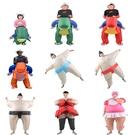 充氣兒童相撲人偶搞笑表演服裝年會cos道具【聚寶屋】