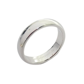Tiffany & Co 蒂芬妮 簡約造型鉑金戒指 Band Ring 4mm 12號 PT950  【BRAND OFF】