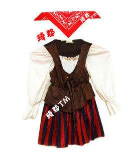海盜服裝小女海盜1-2歲