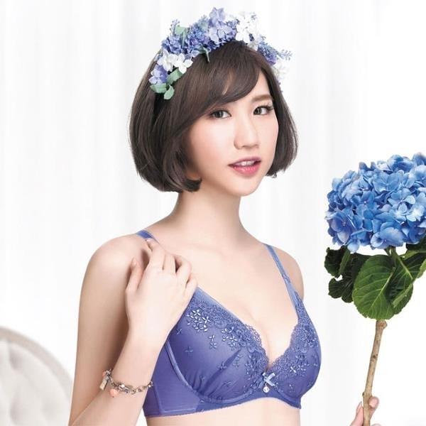 【南紡購物中心】【SAVVY 莎薇】花舞精靈粉水2UP 系列 B-D罩杯內衣(紫羅蘭)